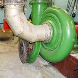Reparatie van industriële compressor compressordrijvende kracht royalty-vrije stock foto