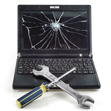 Reparatie van laptops Stock Foto