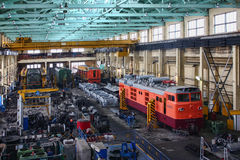 Reparatie van locomotieven royalty-vrije stock afbeeldingen