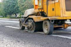 Reparatie van wegen in de stad Stock Fotografie