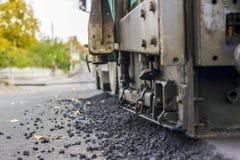 Reparatie van wegen in de stad Stock Afbeelding