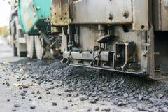 Reparatie van wegen in de stad Royalty-vrije Stock Foto