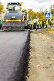 Reparatie van wegen in de stad Royalty-vrije Stock Afbeelding