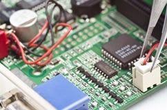 Reparatie videocard Stock Foto