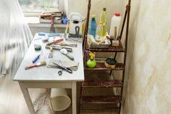 Reparaties in de flat Royalty-vrije Stock Fotografie