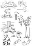 reparation Vektor Illustrationer