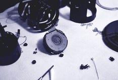 Reparation av autofocusmotorn royaltyfri fotografi