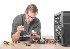 Reparation av datoren Royaltyfri Bild