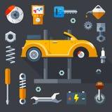 Reparation av maskiner och utrustning royaltyfri illustrationer