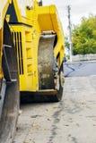 Reparation av vägar i staden Royaltyfria Foton