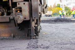 Reparation av vägar i staden Royaltyfria Bilder