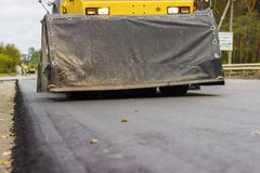 Reparation av vägar i staden Royaltyfri Fotografi