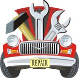 reparation bil royaltyfri illustrationer