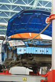 Reparation of car body on building berth Royalty Free Stock Photography