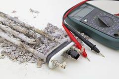 Reparation för anordning för tvagningmaskin arkivfoton