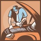 reparation för bilbilmekaniker Royaltyfria Foton