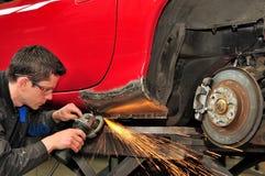Reparation för bilkropp. Fotografering för Bildbyråer