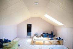 Reparation och garnering av rummet i huset Många makthjälpmedel Arkivbilder