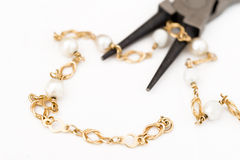 Reparation and restoration of jewelry Stock Images