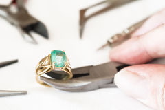 Reparation and restoration of jewelry Stock Photography
