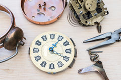 Reparation and restoration of watches Royalty Free Stock Photos