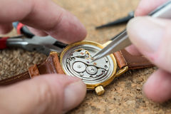 Reparation and restoration of watches Royalty Free Stock Photography