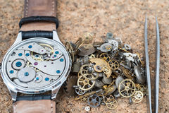 Reparation and restoration of watches Stock Photos