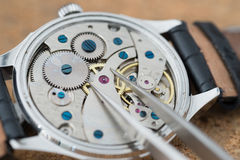 Reparation and restoration of watches Stock Images