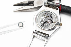 Reparation and restoration of watches Royalty Free Stock Image