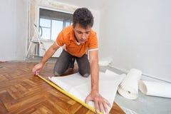 Reparationer i lägenheten. Arkivfoto