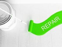 Reparationer i rummet Royaltyfria Bilder