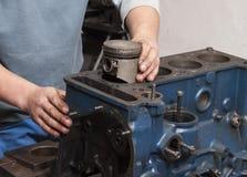 Reparationsbilmotor Royaltyfri Fotografi