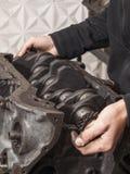 Reparationsbilmotor Royaltyfri Bild