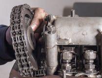 Reparationsbilmotor Arkivfoton