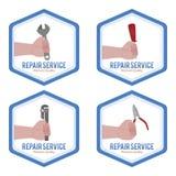 reparationsetiketter Arkivfoto