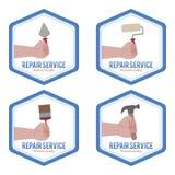 reparationsetiketter Royaltyfri Fotografi
