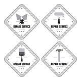 reparationsetiketter Fotografering för Bildbyråer