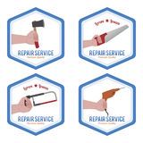 reparationsetiketter Royaltyfri Bild