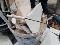 Reparationskonstruktion och konstruktionsavfalls fotografering för bildbyråer