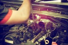 Reparationspistongmotor Royaltyfri Fotografi