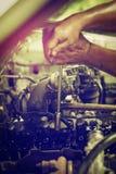 Reparationspistongmotor Royaltyfria Bilder