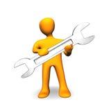reparationsservice för folk 3d shoppar royaltyfri illustrationer