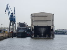Reparationsskeppsdocka för skepp Royaltyfria Foton