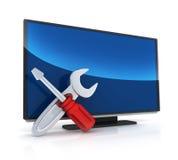ReparationsTV och bildskärm stock illustrationer