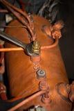Reparatur der Espressomaschine stockfotografie