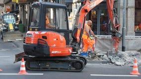 Reparatur der Straßen Stockbild