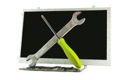 Reparatur der Tablette Lizenzfreie Stockbilder