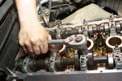 Reparatur des Motors Lizenzfreies Stockbild