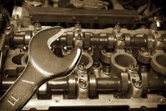 Reparatur des Motors Stockfotos