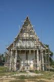 Reparatur des Tempels in Thailand Stockfotos